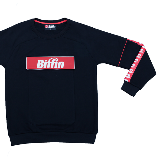 Biffin Black sweatshirt molleton