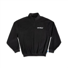 GOODBOIS OFFICIAL FLEECE HALFZIP CREWNECK BLACK