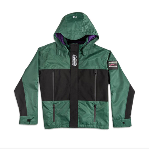 GOODBOIS GEOTAG RADAR SHELL JACKET GREEN