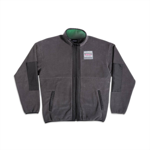 GOODBOIS GEOTAG FLEECE FULLZIP JACKET DARK GREY