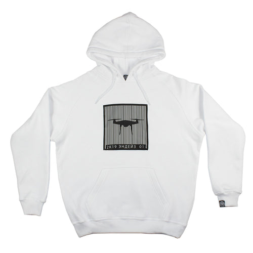 2k19 Scan Drone Hoodie - White
