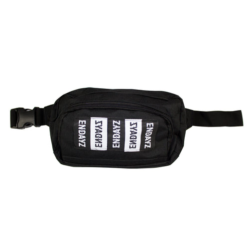 Waist bag Glitch logos Black