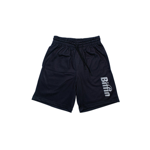 Biffin Black logo shorts