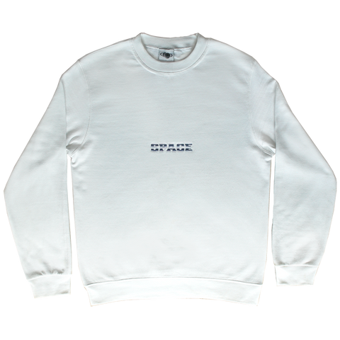 White Striped Space Sweatshirt