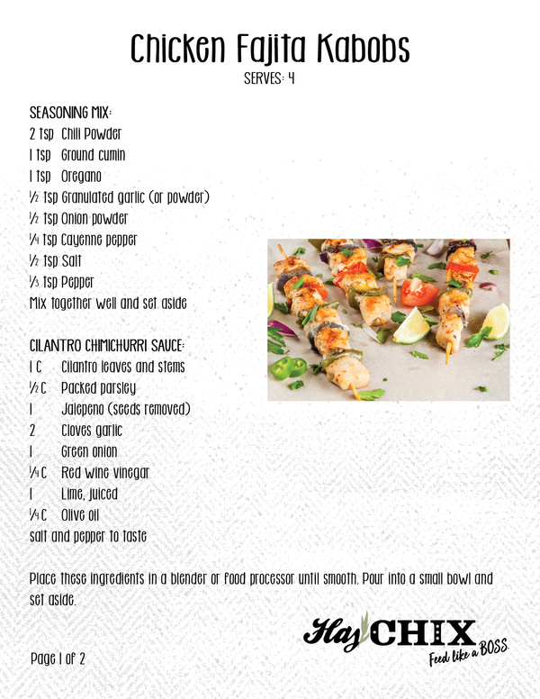 Recipe: Chicken Fajita Kabob
