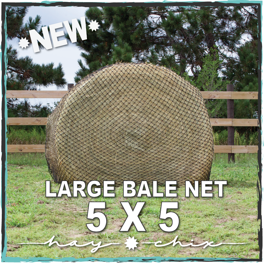 "Hay Chix® Large Bale Net - 5'   ""The Goldilocks"""