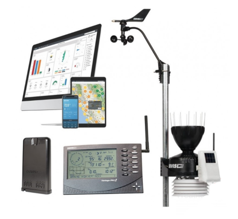 DAVIS VANTAGE PRO2 WIRELESS WEATHER STATION 6152UK /IE & WEATHERLINK LIVE BUNDLE