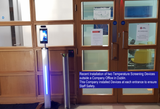 Recent Installation of 2 Temperature Screening Fever Access Control Devices in a Dublin Office with Staff and Customer Entrances.