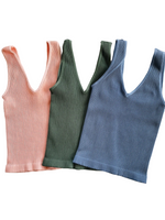 Reversible Ribbed Crop Top