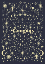 Galaxy Congrats Card
