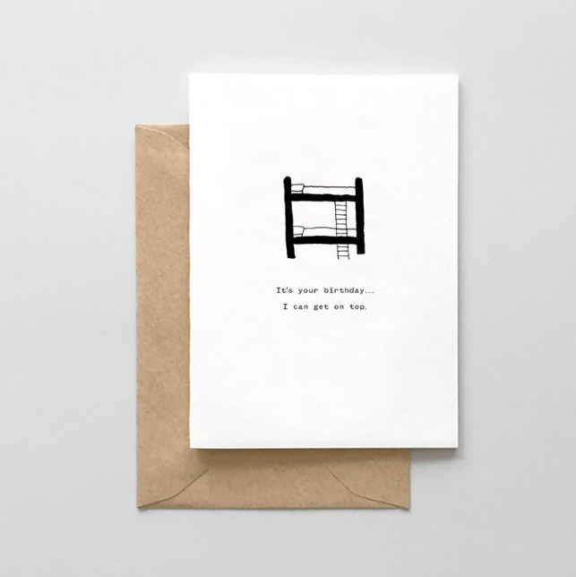 Bunk Bed Card