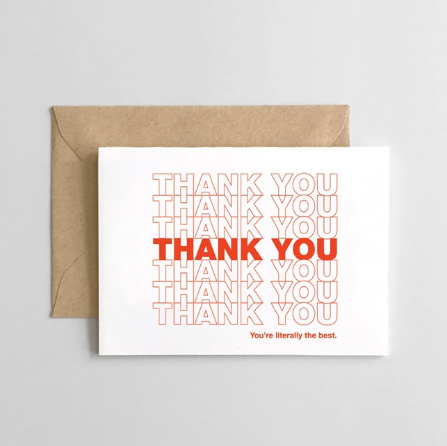 Thank you, Thank you Card