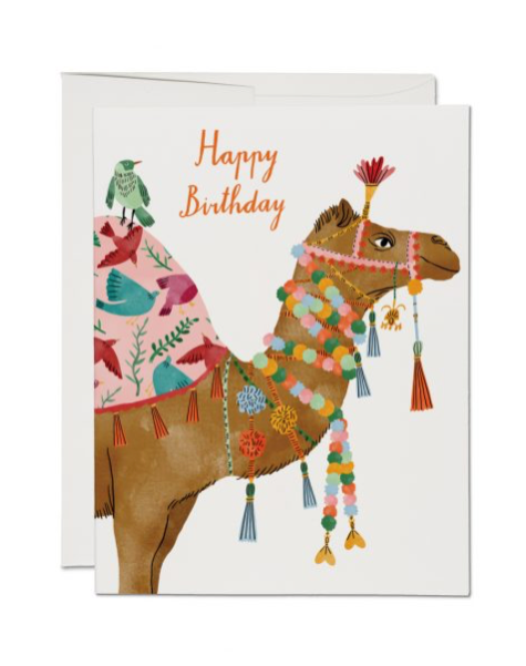 Happy Birthday Camel Card