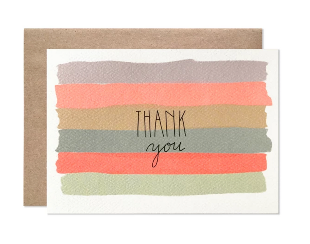 Thank You Watercolor Stripes