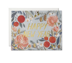 New Years Flowers Card