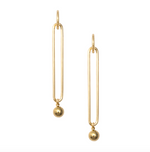 Mila Drop Hoops - Gold Filled