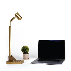 The Wedge - Brass Table Lamp