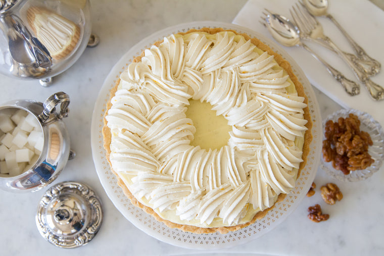 Bananas Foster Double Cream Pie