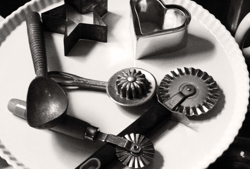 Photo of vintage pie tools. Photo by Jennifer Potts.
