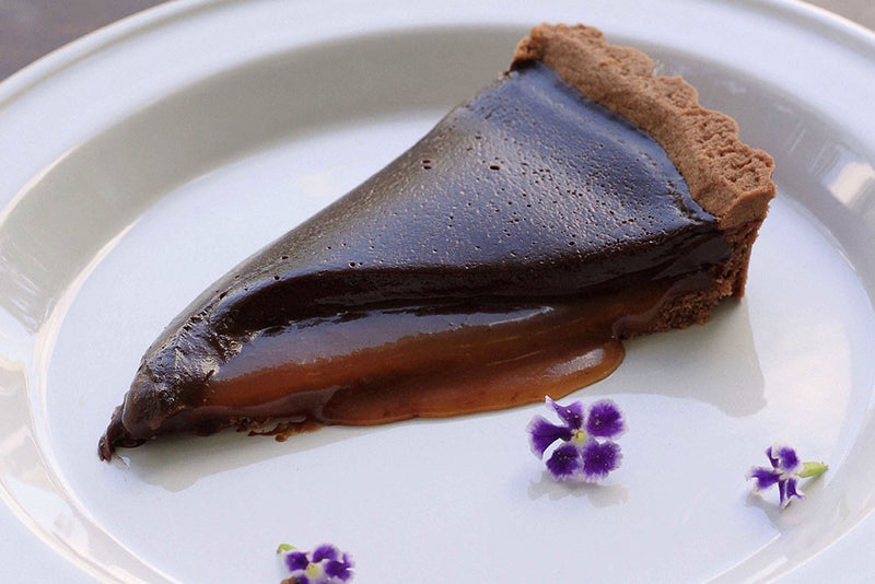 Dark Chocolate Tart with Earl Grey Caramel