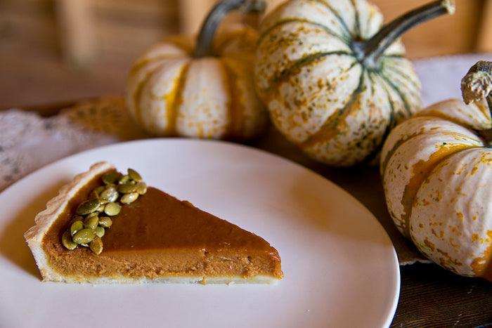 Gingered Pumpkin Tart with Candied Pepitas