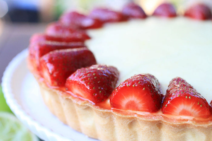 Strawberry Margarita Chiffon Tart