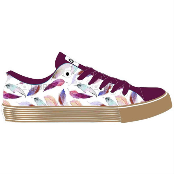 Feather Espadrille Printed Canvas