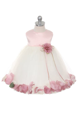 Satin Flower Petal Dress