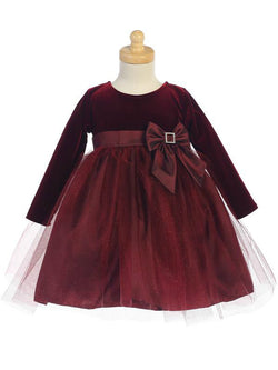 Velvet Dress with Glitter Tulle Skirt