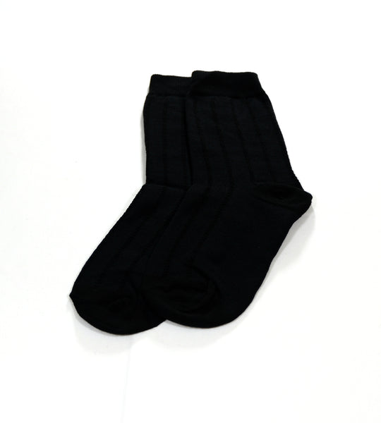 Black Midcalf Socks