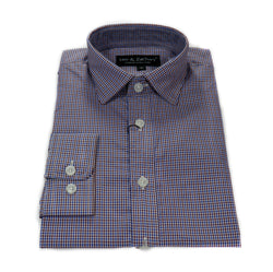 Blue Farmer's Plaid Dress Shirt
