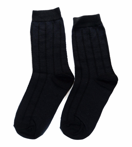 Navy Midcalf Socks