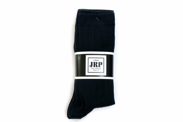Navy Midcalf Socks - 3 Pack