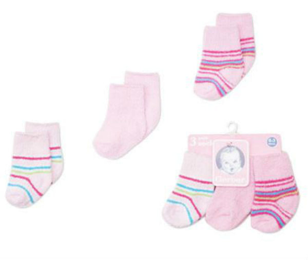 Soft Bootie Socks - 3 Pack