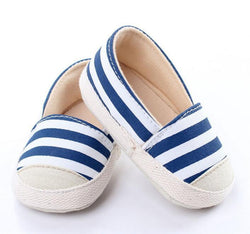 Striped Canvas Soft Sole Shoes