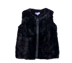 Polyester Black Fur Vest