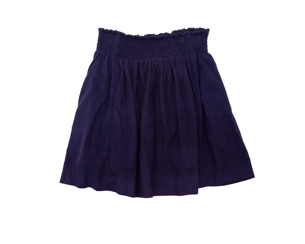 Blue Suede Scrunch Skirt