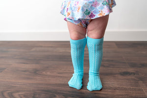 SKY BLUE KNEE HIGH SOCKS