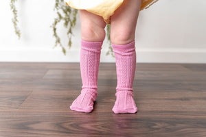 SEA PINK KNEE HIGH SOCKS