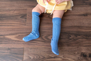 PRINCESS BLUE KNEE HIGH SOCKS