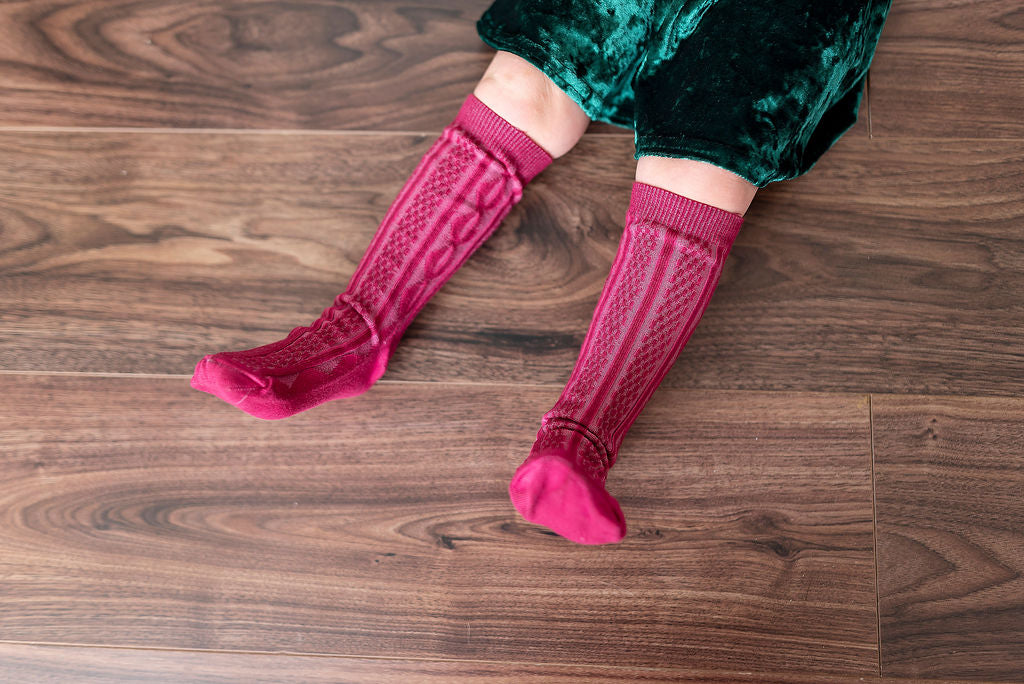 CRANBERRY | KNEE HIGH SOCKS
