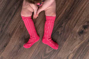 RASPBERRY KNEE HIGH SOCKS