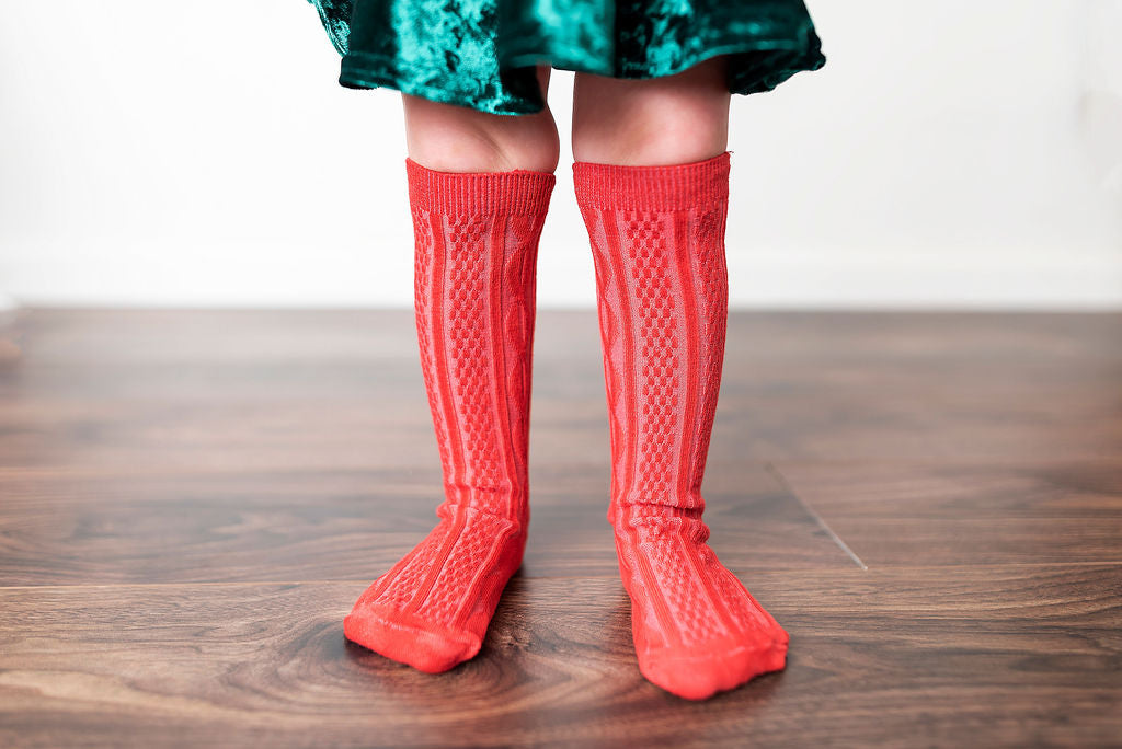 RUDOLPH RED KNEE HIGH SOCKS