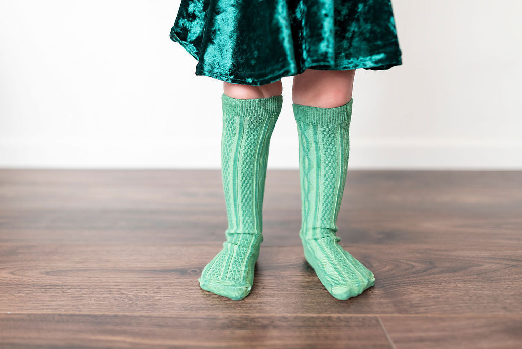KELLY GREEN | KNEE HIGH SOCKS