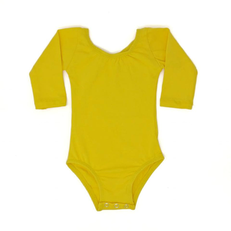 YELLOW | LONG SLEEVE LEOTARD
