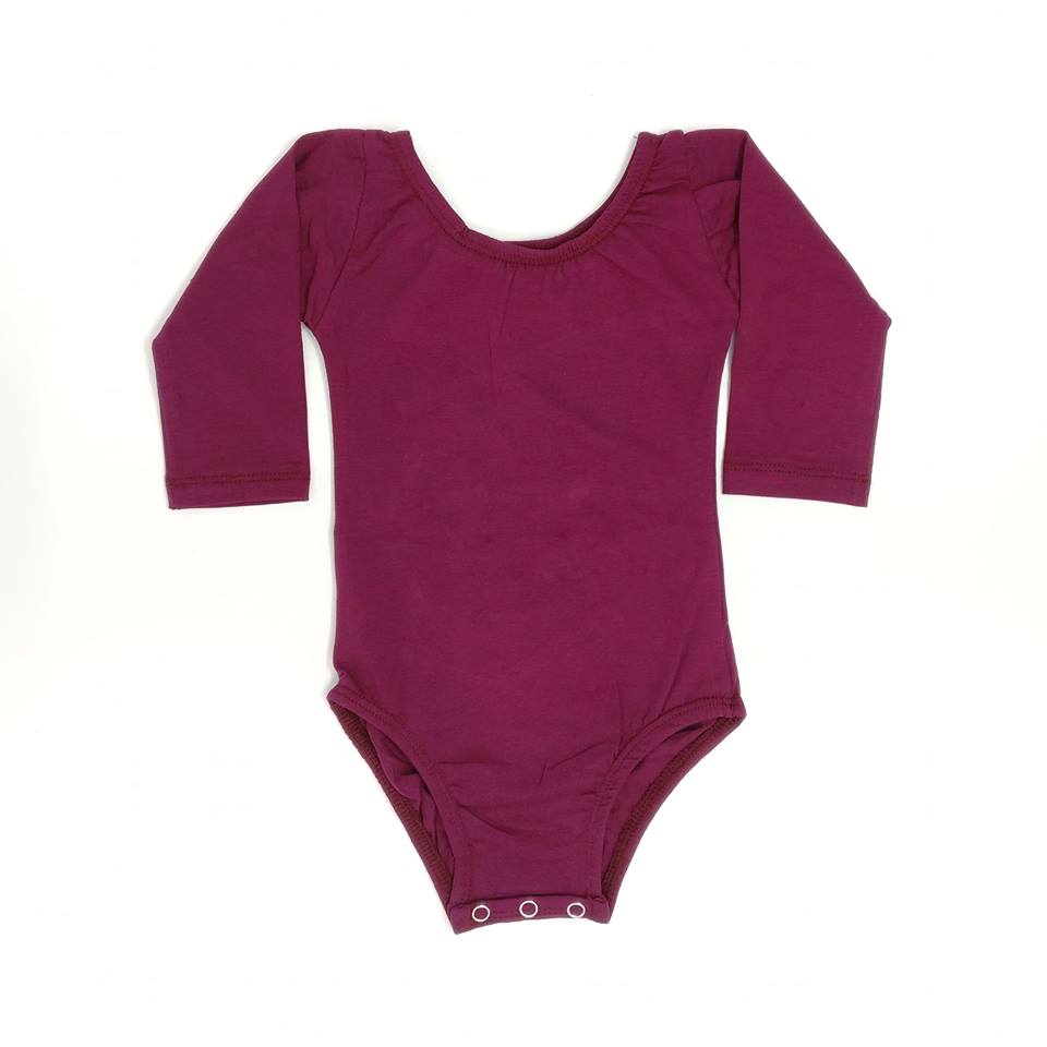 WINE | LONG SLEEVE LEOTARD