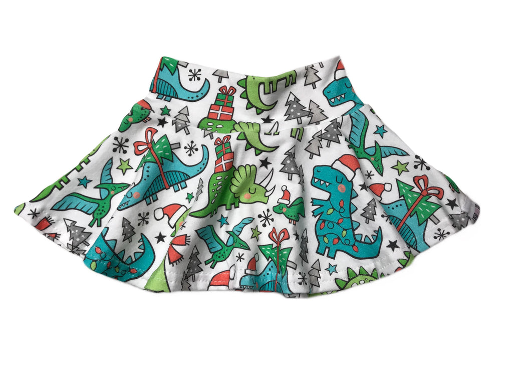 HOLIDAY DINO | SKIRT (18m/5T)