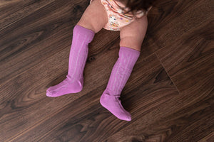 LILAC ORCHID KNEE HIGH SOCKS