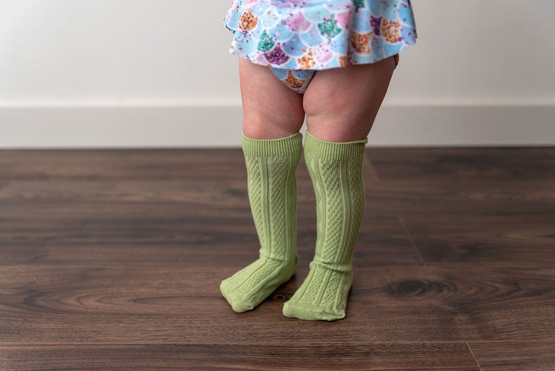 SPRING GREEN KNEE HIGH SOCKS