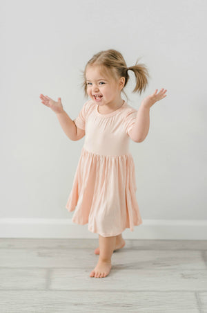 PEACH | BAMBOO TWIRL DRESS